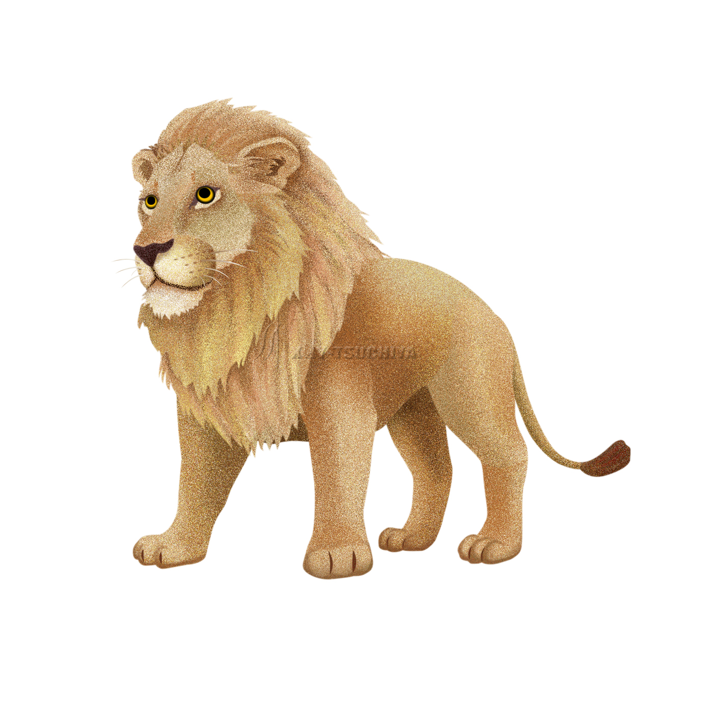 ある動物園の少しキャラ的なライオンのイラストです。:イラスト制作