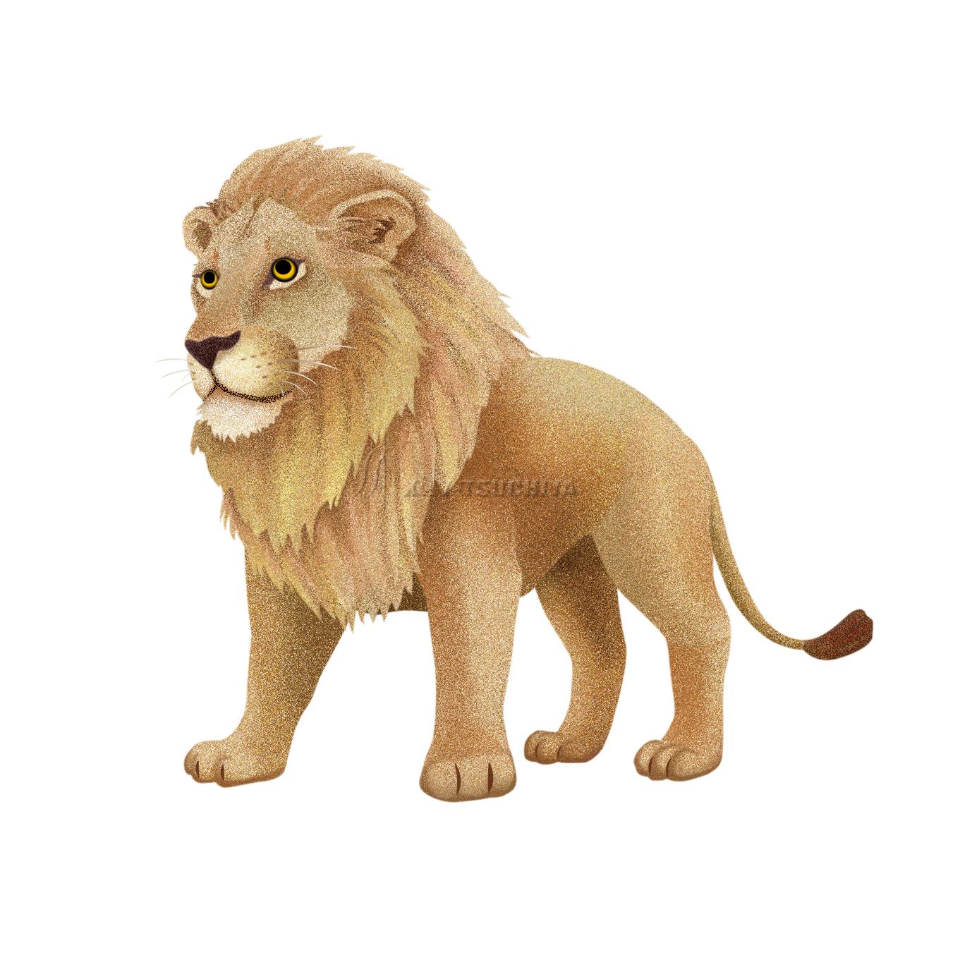 ある動物園の少しキャラ的なライオンのイラストですイラスト制作工房
